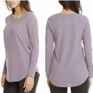 Chaser Waffle Thermal Purple Button Sleeves